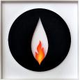 Flamme im Kreis