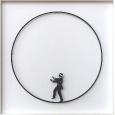 Mann im Kreis