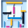 Homage to Theo van Doesburg 'Teamwork'