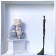 Homage to Alberto Giacometti 'Giacometti meets Buddha'