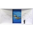 Homage to Paul Klee 'Paul Klee zeichnet einen Fisch'